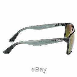 Ray-Ban Chromance RB 4264 876/6O Shiny Grey Sunglasses Gold Flash Polarized