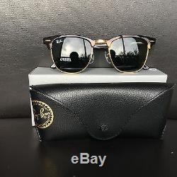 Ray Ban ClubMaster RB3016 W0366 Tortoise Frame Green G15 Lens 51mm