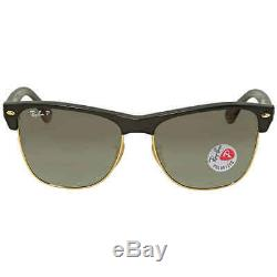 Ray Ban Clubmaster Grey Gradient Square Polarized Men's Sunglasses RB4175 877/M3