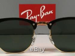 Ray-Ban Clubmaster Sunglasses RB3016 W0365 Black Frame/G-15 Green Lens 51-21mm