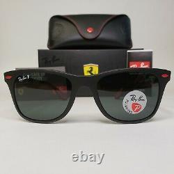 Ray Ban Ferrari RB4195 Liteforce Polarized Sunglasses Black Frame