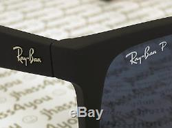 Ray-Ban Justin BLUE Classic POLARIZED RB4165 622/2V Wayfarer Matte Black 54mm
