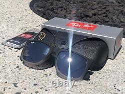 Ray-Ban Justin Black/Grey Gradient Frame w Silver Mirror Lens RB4165 852/88 55mm