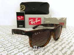 Ray-Ban Justin POLARIZED RB4165 865/T5 Wayfarer Matte Tortoise/Brown Gradient