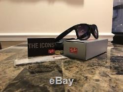 Ray-Ban Justin RB4165 Sunglasses Matte Black Frame Grey Gradient Lenses 54mm