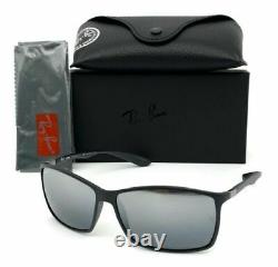Ray Ban Liteforce RB4179 601S82 Matte Black / Silver Mirror Polarized 62mm