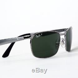 Ray-Ban Men Gunmetal Sunglasses Polarised Green Lenses Rayban RB3534 004 Men