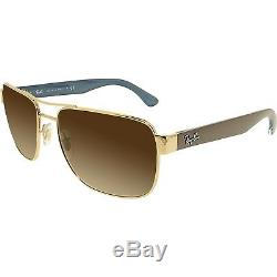 Ray-Ban Men's Gradient RB3530 RB3530-001/13-58 Gold Aviator Sunglasses