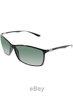 Ray-Ban Men's Liteforce RB4179-601/71-62 Black Rectangle Sunglasses