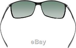Ray-Ban Men's Liteforce RB4179-601/71-62 Black Rectangle Sunglasses