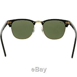 Ray-Ban Men's Mirrored Clubmaster RB3016-W0365-51 Black Sunglasses