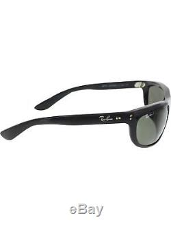 Ray-Ban Men's Polarized Balorama RB4089-601/58-62 Black Rectangle Sunglasses