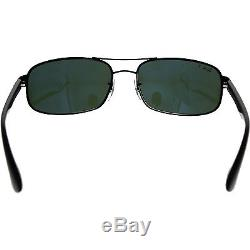 Ray-Ban Men's Polarized Icons RB3445-002/58-61 Black Rectangle Sunglasses