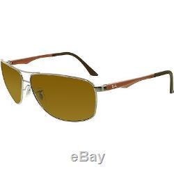 Ray-Ban Men's Polarized RB3506 RB3506-132/83-64 Gold Aviator Sunglasses