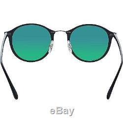 Ray-Ban Men's Polarized RB4242 RB4242-601S9A-49 Black Round Sunglasses