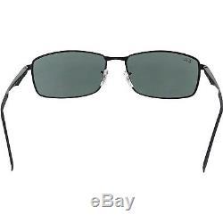 Ray-Ban Men's RB3498 RB3498-002/71-64 Black Rectangle Sunglasses