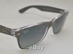 Ray Ban NEW WAYFARER (RB2132-614371 52) Gunmetal/Trans with Gray Grad Gray Lens