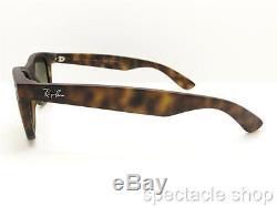 Ray Ban New Wayfarer 2132 894/76 Matte Havana Gradient Polarized Sunglasses