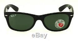 Ray-Ban New Wayfarer Black l Polarized Green Classic G-15 RB2132 901/58 52mm
