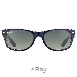 Ray Ban New Wayfarer RB 2132 6053M3 Blue Crystal Sunglasses Grey Polarized 55mm