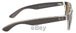 Ray Ban New Wayfarer RB 2132 6143/71 Brushed Gunmetal Sunglasses Grey Lens 55mm