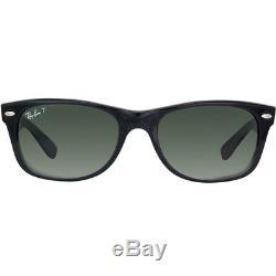 Ray Ban New Wayfarer RB 2132 901/58 Black Sunglasses Green Polarized 58mm