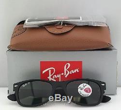 Ray-Ban New Wayfarer RB2132 Polarized 622/58 Matte Black / Classic Green 52mm