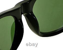 Ray-Ban New Wayfarer Shiny Black Frame Green Classic G-15 Lens RB2132 901 52MM