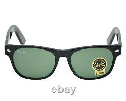 Ray-Ban New Wayfarer Shiny Black Frame Green Classic G-15 Lens RB2132 901 55MM