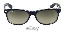 Ray-Ban New Wayfarer Top Matte Blue l Polarized Grey Gradient RB2132 6053M3 55mm