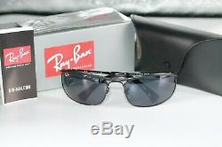 Ray Ban OLYMPIAN Sunglasses RB3119 9161R5 Black Frame WithBlue & Grey Classic Lens