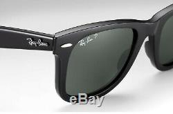 Ray Ban Original Wayfarer Classic Polarized Sunglasses 54mm Black Frame