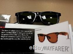 Ray Ban Original Wayfarer RB 2140 Black Frame, 54mm 901 G-15 Lens, Black Case