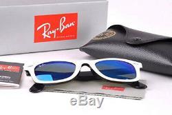 Ray-Ban Original Wayfarer RB2140 White Frame, Blue Mercury Len G-15 Len 54mm/50mm