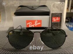 Ray-Ban Outdoorsman Black Frame RB3030 L9500 58mm Pilot Aviator