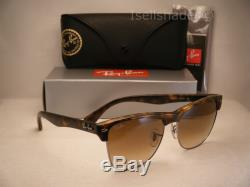 Ray Ban Oversize Clubmaster Matte Tortoise w Brown Gradient Lens (RB4175 878/51)