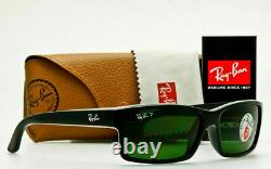 Ray Ban POLARIZED Sunglasses RB4151 601/2P Glossy Black With Classic Grey-Green