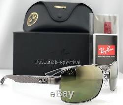 Ray-Ban Polarized Sunglasses RB 8318CH Gunmetal / Gold Chromance Lens 004/6O 62
