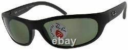 Ray Ban Predator Polarized Sunglasses RB4033 601S48 Matte Black With G-15 Green