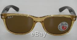Ray-Ban RB 2132 945/57 55MM New Wayfarer Honey With Crystal Brown Polarized