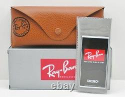 Ray Ban RB 3025 112/4L Matte Gold Blue Mirror Polarized Authentic Sunglasses New