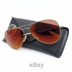 Ray Ban RB 3025 167/2K Brushed Bronze Red Mirror New Authentic Sunglasses