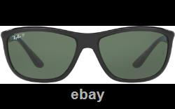 Ray Ban RB 8351 62199A Black Green Polarized Sunglasses Italy New 60MM Authentic
