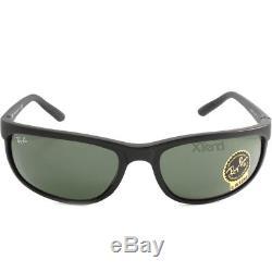 Ray-Ban RB2027 W1847 Predator 2 Matte Black/Green Sports Wrap-Around Sunglasses
