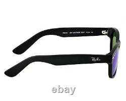 Ray-Ban RB2132 New Wayfarer Flash 622/17 Black/ Blue Flash Lens Sunglasses 52mm