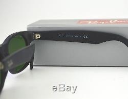 Ray Ban RB2132 New Wayfarer Flash 622/17 Black/ Blue Flash Lens Sunglasses 52mm