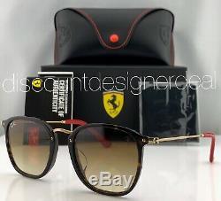 Ray-Ban RB2448M Ferrari Sunglasses F613/51 Tortoise Brown Gold Brown Gradient 53
