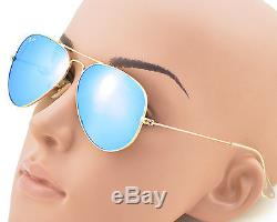 Ray-Ban RB3025 Aviator Flash Lens 112/17 Gold Frame / Blue Flash Glass Lens 55mm