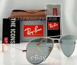 Ray-Ban RB3025 Aviator Sunglasses 9065/I5 Silver Blue Photochromatic Evolve 55mm