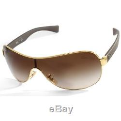 Ray-Ban RB3471 001/13 Youngster Gold-Brown/Brown Gradient Shield Sunglasses
